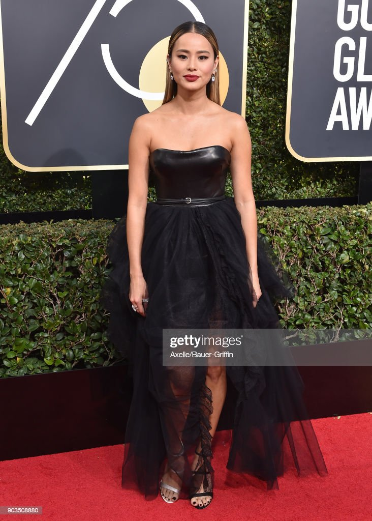 Actress Jamie Chung attends the 75th Annual Golden Globe Awards at The Beverly Hilton Hotel on January 7, 2018 in Beverly Hills, California.