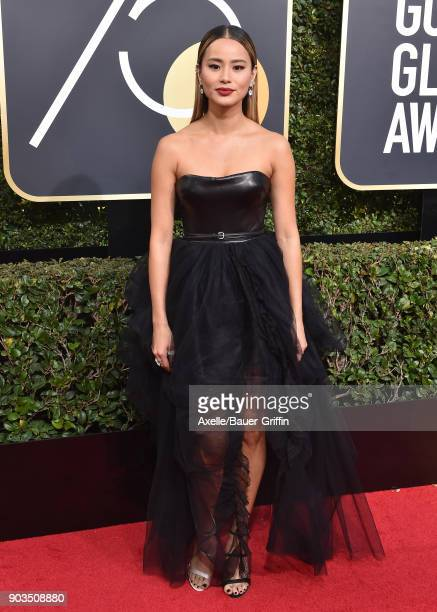 Actress Jamie Chung attends the 75th Annual Golden Globe Awards at The Beverly Hilton Hotel on January 7 2018 in Beverly Hills California