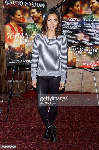 Actress Jamie Chung attends the Already Tomorrow In Hong Kong QA at East Village Theatre on February 12 2016 in New York City