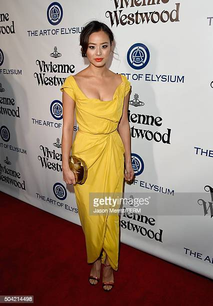 Actress Jamie Chung attends The Art of Elysium 2016 HEAVEN Gala presented by Vivienne Westwood Andreas Kronthaler at 3LABS on January 9 2016 in...