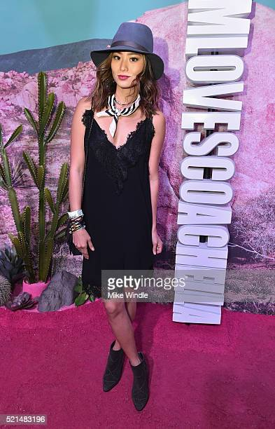 Actress Jamie Chung attends the HM Loves Coachella Pop UP at The Empire Polo Club on April 15 2016 in Indio California
