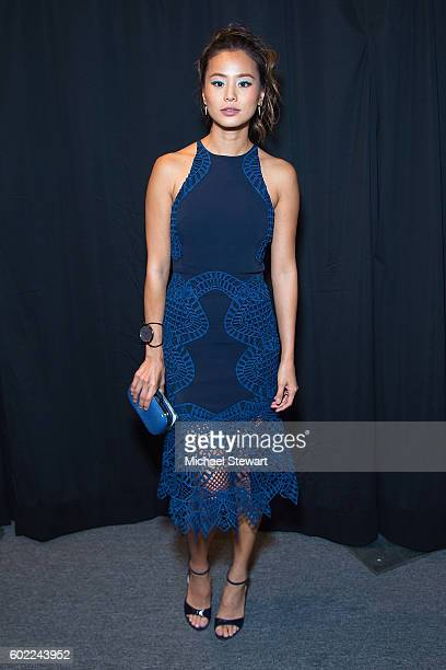 Actress Jamie Chung attends the Jonathan Simkhai fashion show during September 2016 MADE Fashion Week The Shows at The Arc Skylight at Moynihan...