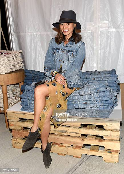 Actress Jamie Chung attends the Levi's Brand and RE/DONE Levi's presents NEON CARNIVAL with Tequila Don Julio on April 16 2016 in Thermal California