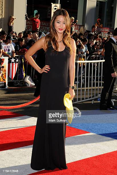Actress Jamie Chung attends the Los Angeles Premiere of Captain America The First Avenger at the El Capitan Theatre on July 19 2011 in Hollywood...