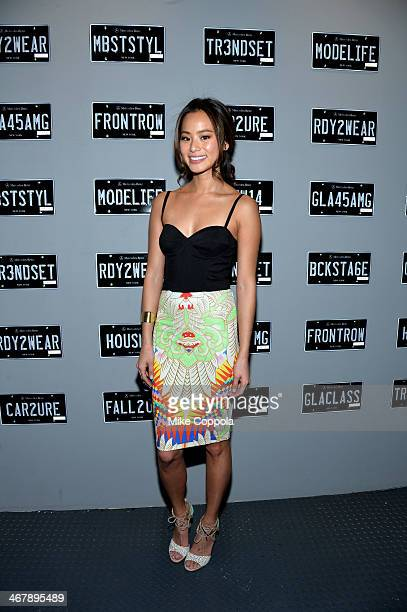 Actress Jamie Chung attends the MercedesBenz Star Lounge during MercedesBenz Fashion Week Fall 2014 at Lincoln Center on February 8 2014 in New York...
