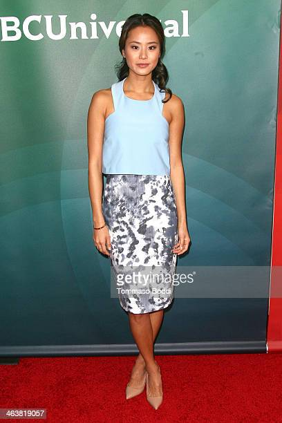 Actress Jamie Chung attends the NBC/Universal 2014 TCA Winter Press Tour held at The Langham Huntington Hotel and Spa on January 19 2014 in Pasadena...