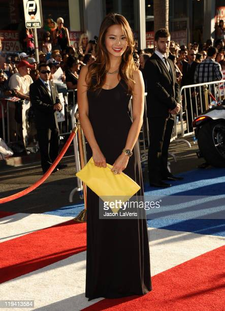 Actress Jamie Chung attends the premiere of Captain America The First Avenger at the El Capitan Theatre on July 19 2011 in Hollywood California