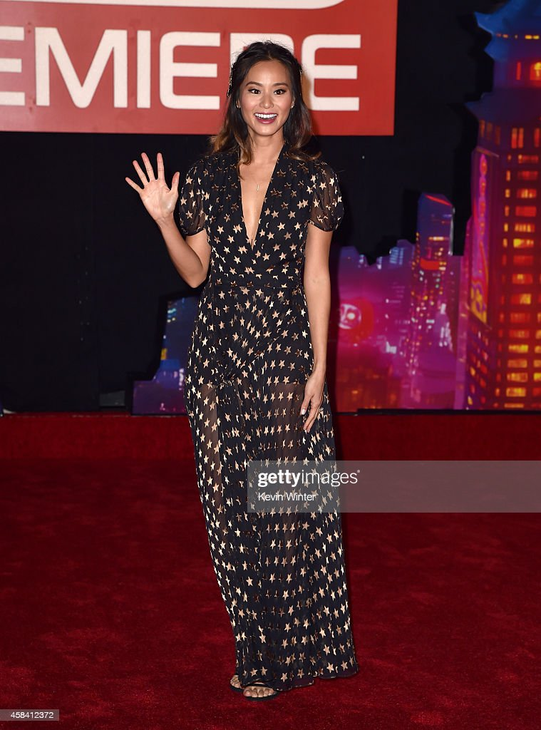Actress Jamie Chung attends the premiere of Disney's 'Big Hero 6' at the El Capitan Theatre on November 4, 2014 in Hollywood, California.