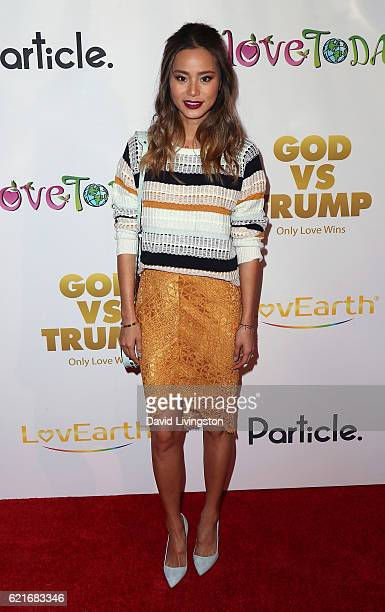 Actress Jamie Chung attends the premiere of God vs Trump at TCL Chinese Theatre on November 7 2016 in Hollywood California