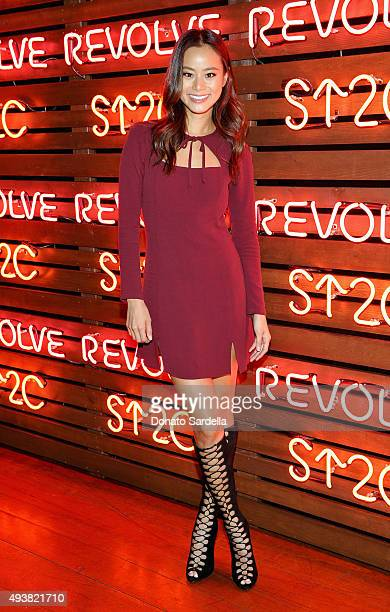 Actress Jamie Chung attends the REVOLVE fashion show benefiting Stand Up To Cancer on October 22 2015 in Los Angeles California