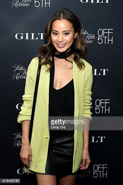 Actress Jamie Chung attends the Saks OFF 5TH celebration for the opening of the 57th Street location featuring the firstever Gilt instore shop on...