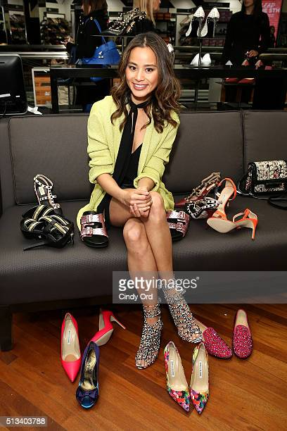 Actress Jamie Chung attends the Saks OFF 5TH celebration for the opening of the 57th Street location featuring the first-ever Gilt in-store shop on...