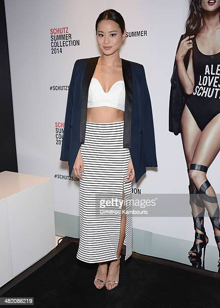 Actress Jamie Chung attends the Schutz Summer 2014 Collection Launch at Schutz on April 2 2014 in New York City
