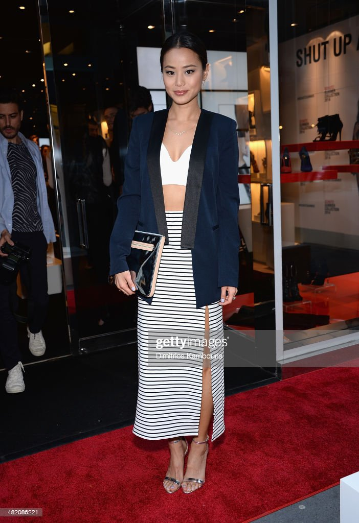 Actress Jamie Chung attends the Schutz Summer 2014 Collection Launch at Schutz on April 2, 2014 in New York City.