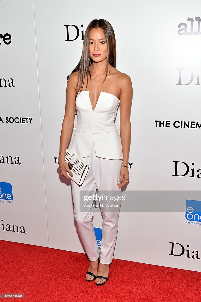 Actress Jamie Chung attends the screening of Entertainment One's 'Diana' hosted by The Cinema Society With Linda Wells and Allure Magazine at SVA Theater on October 30, 2013 in New York City.