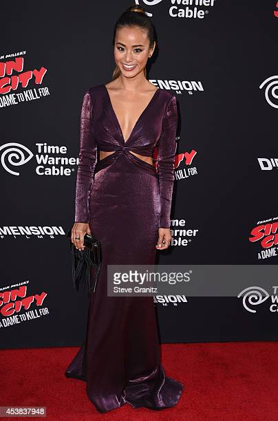 Actress Jamie Chung attends the Sin City A Dame To Kill For Los Angeles premiere at TCL Chinese Theatre on August 19 2014 in Hollywood California