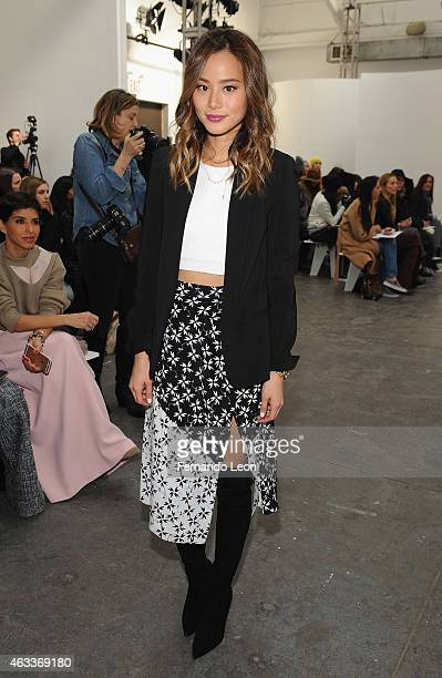 Actress Jamie Chung attends the Tanya Taylor fashion show at Industria Studios during MercedesBenz Fashion Week on February 13 2015 in New York City