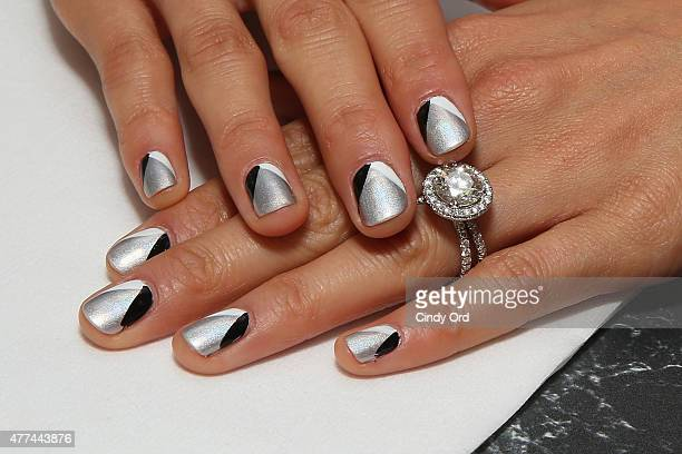 Actress Jamie Chung nail detail attends the Sally Beauty Nail Studio tour at Bryant Park on June 17 2015 in New York City