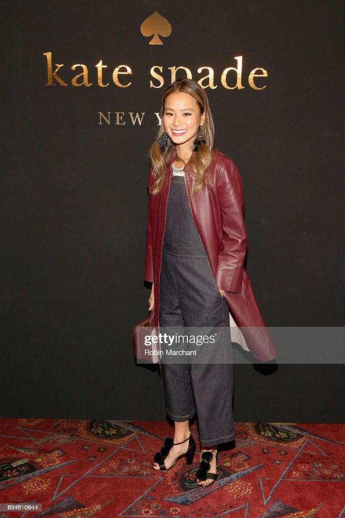Actress Jamie Chung poses at kate spade new york Spring 2017 Fashion Presentation at Russian Tea Room on February 10, 2017 in New York City.