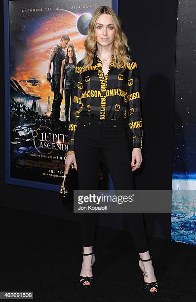 Actress Jamie Clayton arrives at the Los Angeles Premiere Jupiter Ascending at TCL Chinese Theatre on February 2 2015 in Hollywood California