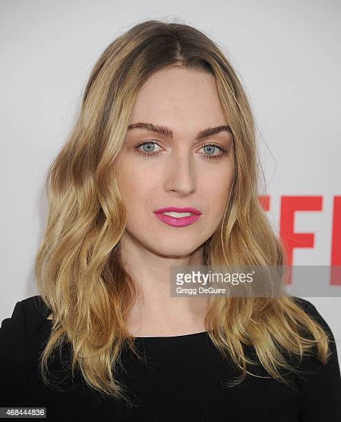 Actress Jamie Clayton arrives at the premiere Of Netflix's Marvel's Daredevil at Regal Cinemas LA Live on April 2 2015 in Los Angeles California