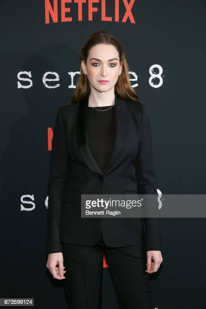 Actress Jamie Clayton attends the Sense8 New York premiere at AMC Lincoln Square Theater on April 26 2017 in New York City