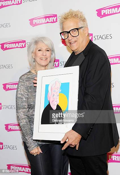 Actress Jamie deRoy and artist Ken Fallin attend Primary Stages 2016 Gala at 538 Park Avenue on October 17 2016 in New York City