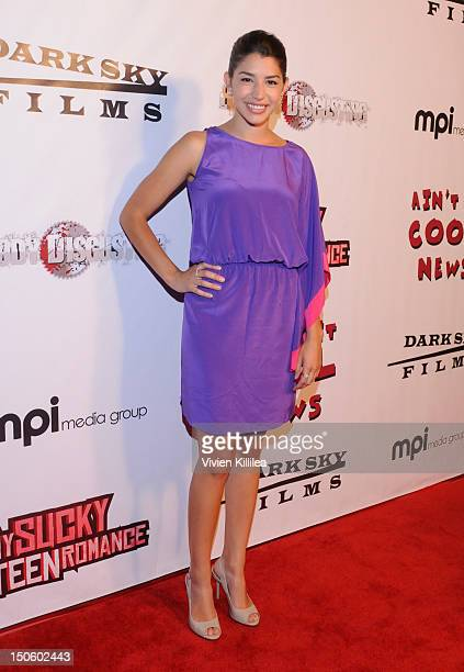Actress Jamie Gray Hyder attends My Sucky Teen Romance Los Angeles Premiere VIP Cocktail Reception at Cinespace on August 22 2012 in Los Angeles...