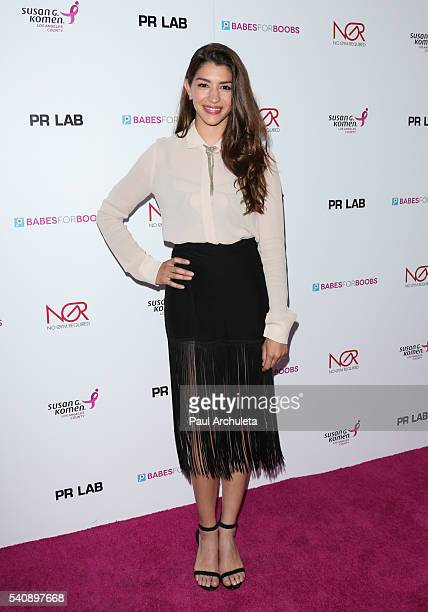 Actress Jamie Gray Hyder attends The Babes For Boobs charity event benefitting the Los Angeles county affiliate of the Susan G Komen foundation on...
