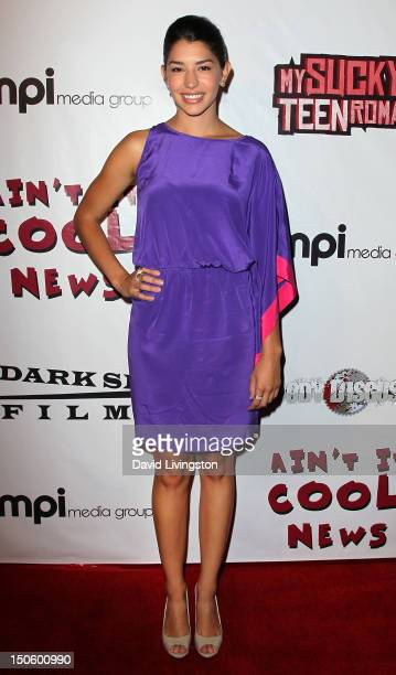 Actress Jamie Gray Hyder attends the premiere of Dark Sky Films' My Sucky Teen Romance at cinespace on August 22 2012 in Hollywood California