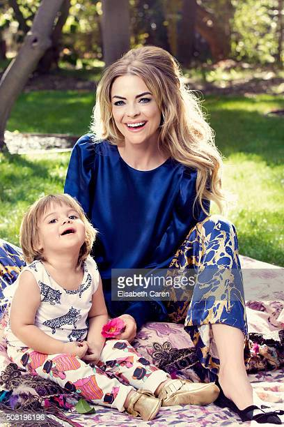 Actress Jamie King and son James Knight are photographed for Viva on October 13 2015 in Los Angeles California