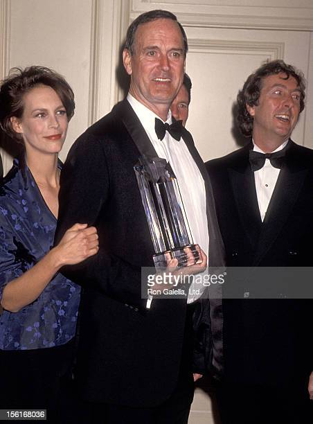 Actress Jamie Lee Curtis actor/writer John Cleese and actor Eric Idle attend the Screen Actors Guild Foundation's Second Annual Jack Oakie Award...