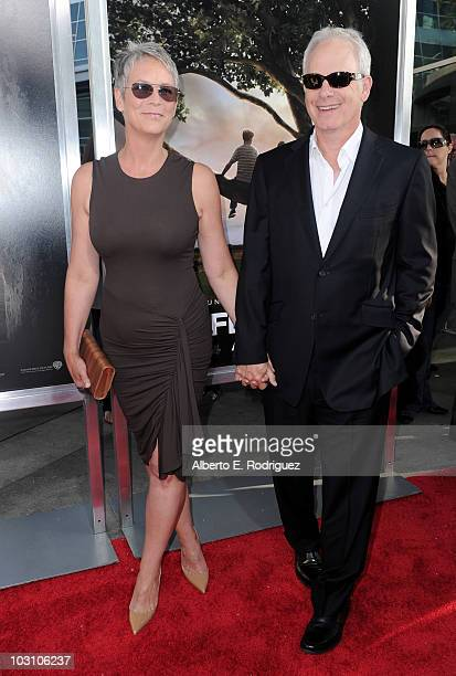 Actress Jamie Lee Curtis and actor Christopher Guest arrive to the premiere of Warner Bros's Flipped on July 26 2010 in Hollywood California