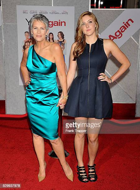 Actress Jamie Lee Curtis and daughter Annie Guest arrive at the premiere of Touchstone Pictures' You Again held at the El Capitan Theater in Hollywood