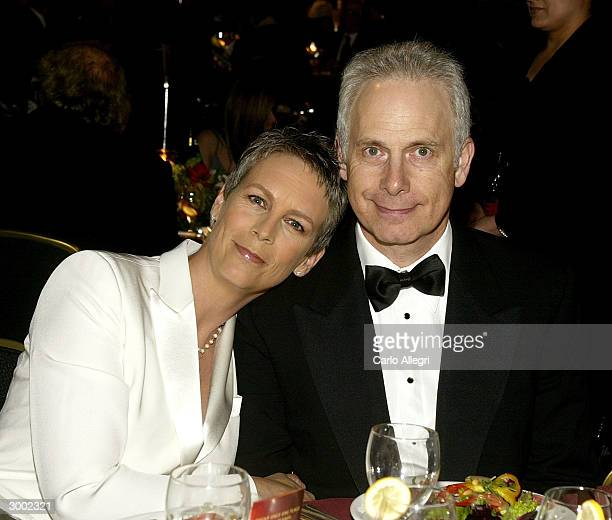 Actress Jamie Lee Curtis and her husband Christopher Guest attend the 6th Annual Costume Guild Awards reception at the Beverly Hilton Hotel February...