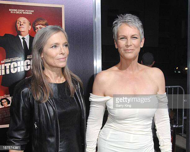 Actress Jamie Lee Curtis and Kelly Lee Curtis arrive at the Los Angeles Premiere Hitchcock at AMPAS Samuel Goldwyn Theater on November 20 2012 in...