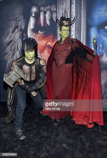 Actress Jamie Lee Curtis and Thomas Guest attend the premiere of Universal Pictures' 'Warcraft' at TCL Chinese Theatre IMAX on June 6 2016 in...