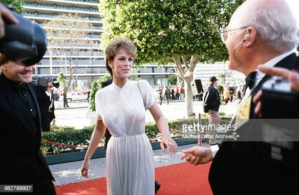 Actress Jamie Lee Curtis arrives at the 55th Academy Awards at Dorothy Chandler Pavilion in Los AngelesCalifornia