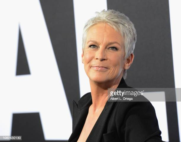 Actress Jamie Lee Curtis arrives for the Universal Pictures' Halloween Premiere held at TCL Chinese Theatre on October 17 2018 in Hollywood California