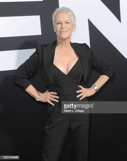"""Actress Jamie Lee Curtis arrives for the Universal Pictures' """"Halloween"""" Premiere held at TCL Chinese Theatre on October 17, 2018 in Hollywood,..."""