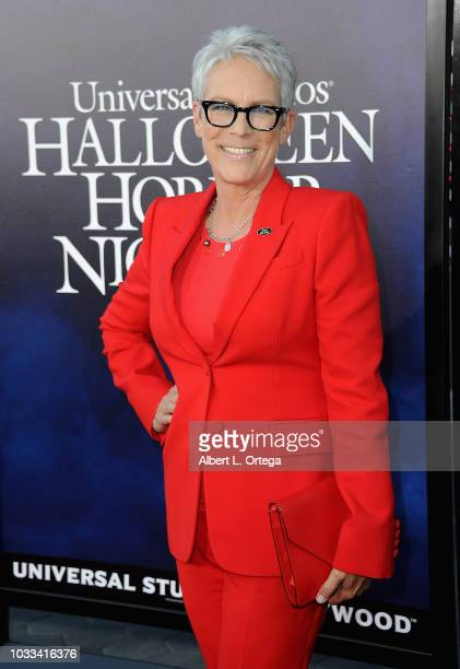 Actress Jamie Lee Curtis arrives for Universal Studios Hollywood's Opening Night Celebration Of Halloween Horror Nights held at Universal CityWalk...