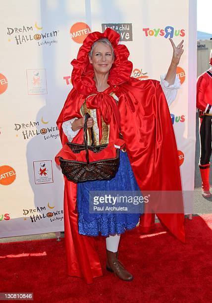 Actress Jamie Lee Curtis attends the 18th annual Dream Halloween Los Angeles at The Barker Hanger on October 29 2011 in Santa Monica California