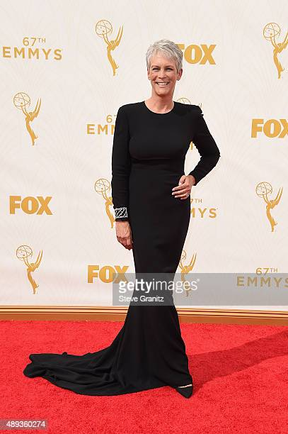 Actress Jamie Lee Curtis attends the 67th Annual Primetime Emmy Awards at Microsoft Theater on September 20 2015 in Los Angeles California