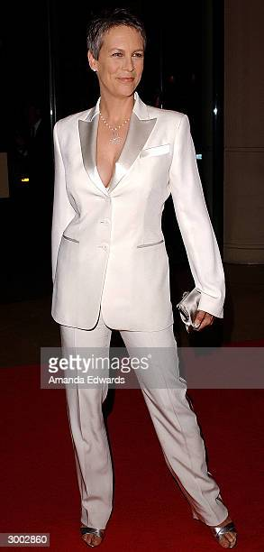 Actress Jamie Lee Curtis attends the 6th Annual Costume Guild Awards in the International Ballroom at the Beverly Hilton Hotel February 21 2004 in...