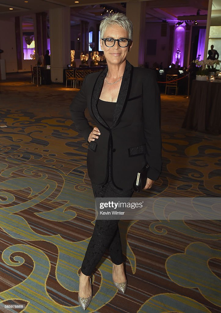 Actress Jamie Lee Curtis attends the Hollywood Foreign Press Association's Grants Banquet at the Beverly Wilshire Four Seasons Hotel on August 4, 2016 in Beverly Hills, California.