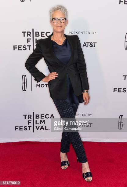 Actress Jamie Lee Curtis attends the 'Hondros' Premiere during 2017 Tribeca Film Festival at Cinepolis Chelsea on April 21 2017 in New York City