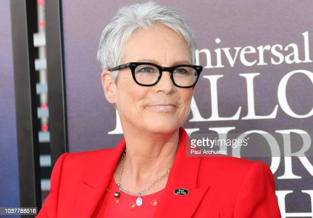 Actress Jamie Lee Curtis attends the opening night celebration of 'Halloween Horror Nights' at Universal Studios CityWalk Cinemas on September 14...