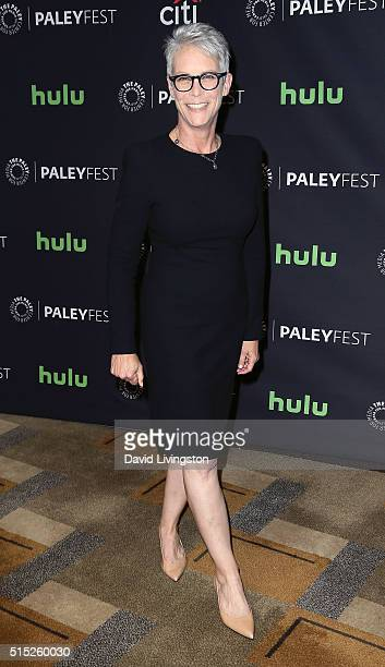 Actress Jamie Lee Curtis attends The Paley Center For Media's 33rd Annual PaleyFest Los Angeles Scream Queens at the Dolby Theatre on March 12 2016...