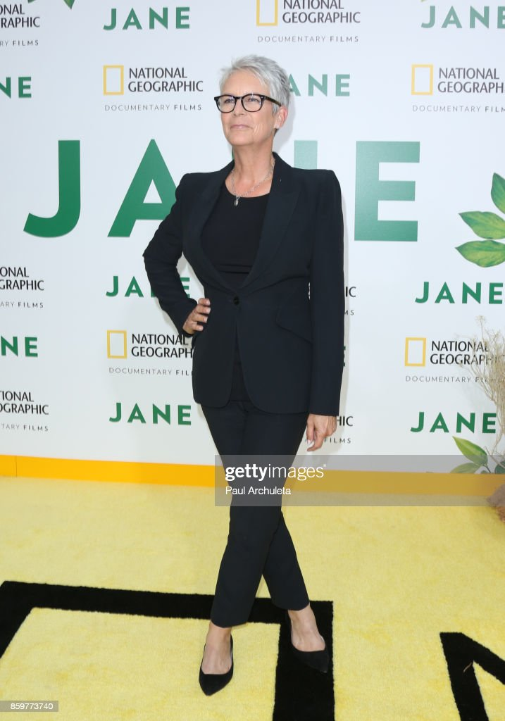 Actress Jamie Lee Curtis attends the premiere of National Geographic documentary films' 'Jane' at the Hollywood Bowl on October 9, 2017 in Hollywood, California.