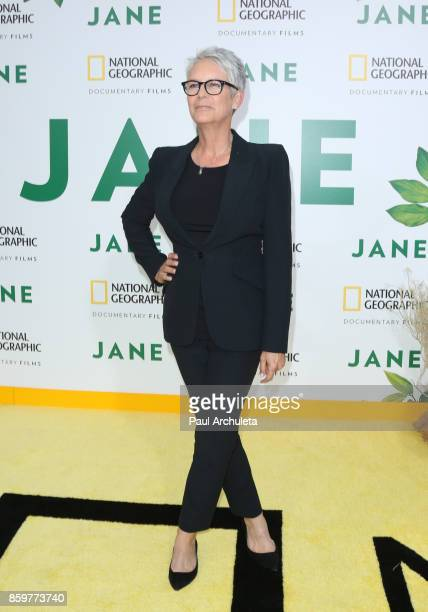 Actress Jamie Lee Curtis attends the premiere of National Geographic documentary films' 'Jane' at the Hollywood Bowl on October 9 2017 in Hollywood...